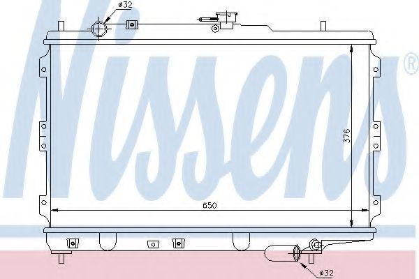 Радиатор охлаждения двигателя NISSENS 66602