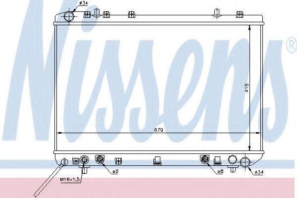 Радиатор охлаждения NISSENS 61669