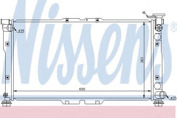Радиатор охлаждения двигателя NISSENS 66615