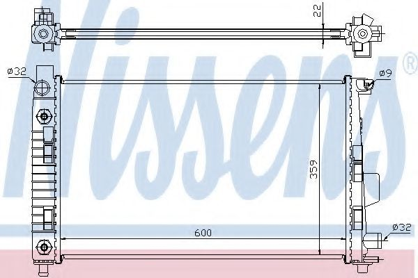 Радиатор охлаждения двигателя NISSENS 62781A