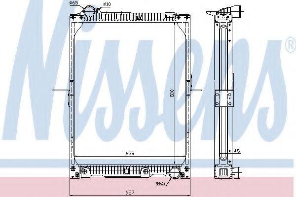 Радиатор охлаждения двигателя NISSENS 62646A