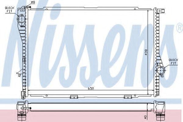Радиатор охлаждения двигателя NISSENS 60754A