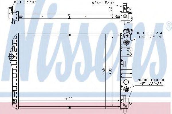 Радиатор охлаждения NISSENS 60922