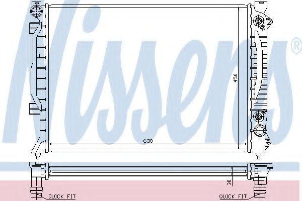 Радиатор охлаждения двигателя NISSENS 60423A