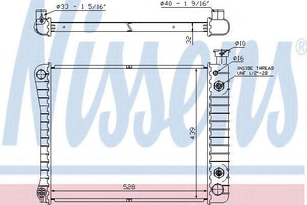 Радиатор, охлаждение двигателя NISSENS 60938