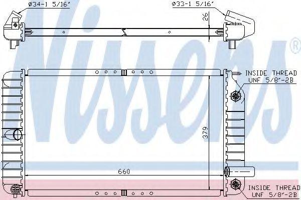 Радиатор охлаждения NISSENS 609191