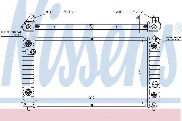 Радиатор, охлаждение двигателя NISSENS 60915