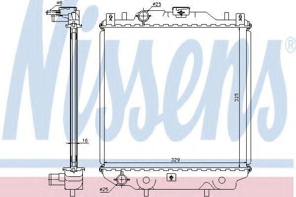 Радиатор охлаждения NISSENS 64174A
