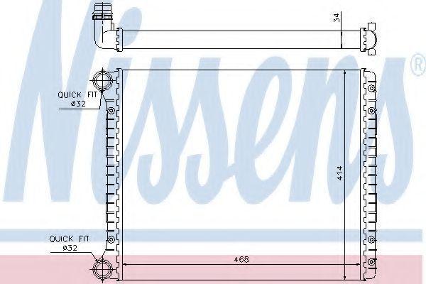 Радиатор охлаждения NISSENS 60426
