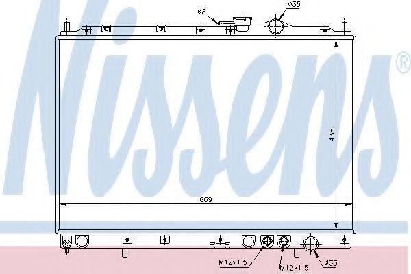 Радиатор охлаждения NISSENS 66628