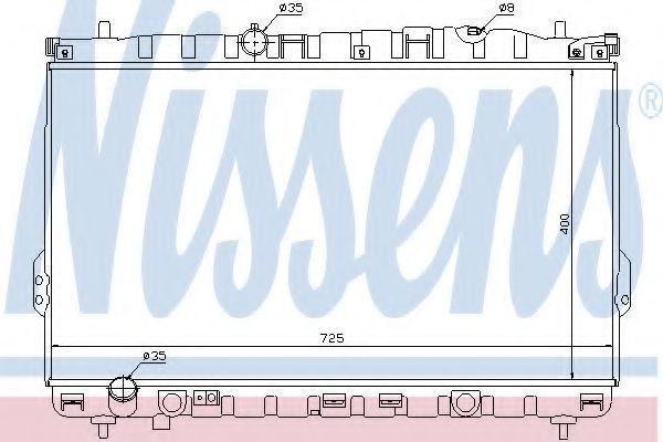 Радиатор охлаждения NISSENS 67032