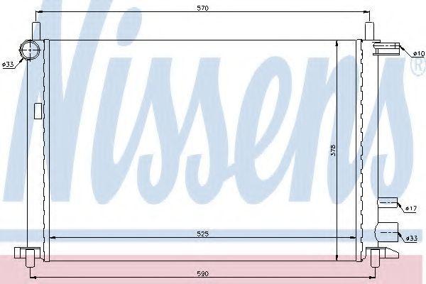 Радиатор охлаждения NISSENS 62053