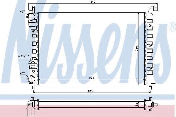 Радиатор охлаждения NISSENS 61802