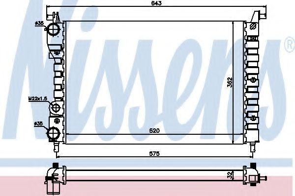 Радиатор охлаждения NISSENS 61801