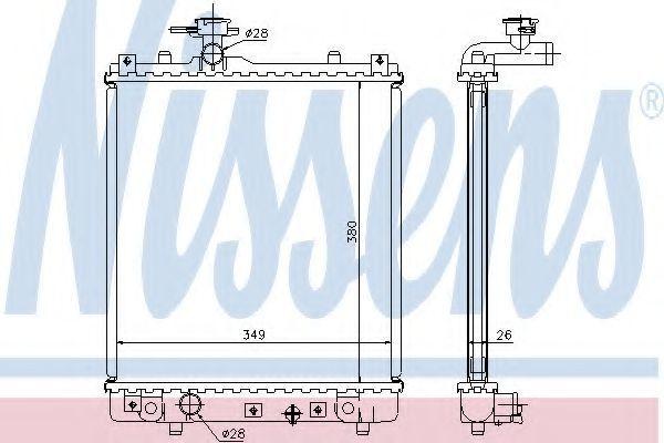 Радиатор охлаждения двигателя NISSENS 63014A