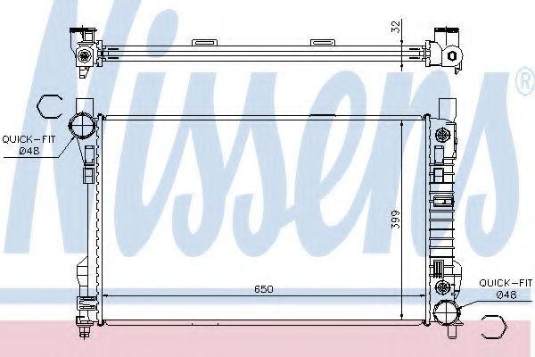 Радиатор охлаждения NISSENS 62786A