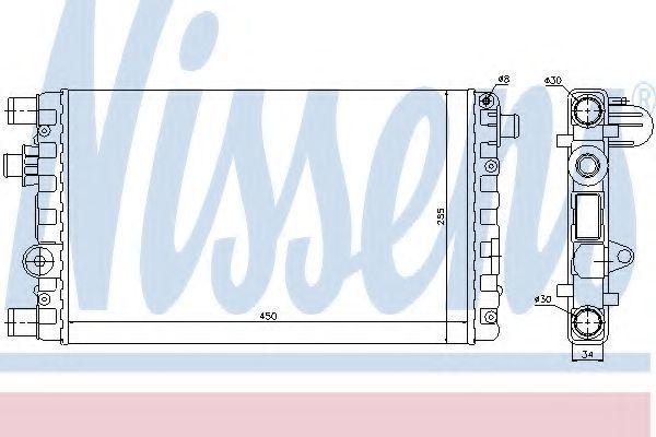 Радиатор охлаждения NISSENS 61785