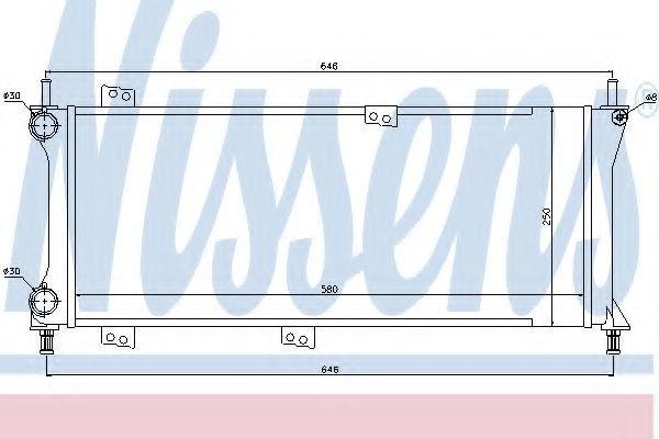 Радиатор охлаждения NISSENS 617731