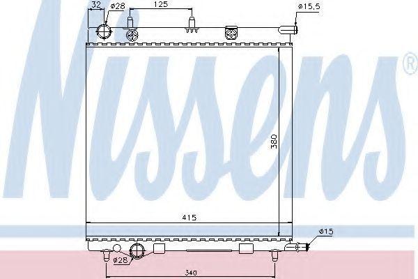 Радиатор охлаждения двигателя NISSENS 61284