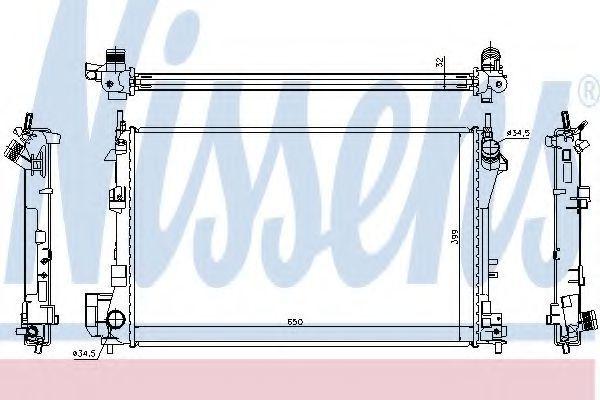 Радиатор охлаждения NISSENS 63022A