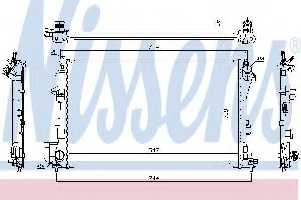 Радиатор охлаждения двигателя NISSENS 63024A