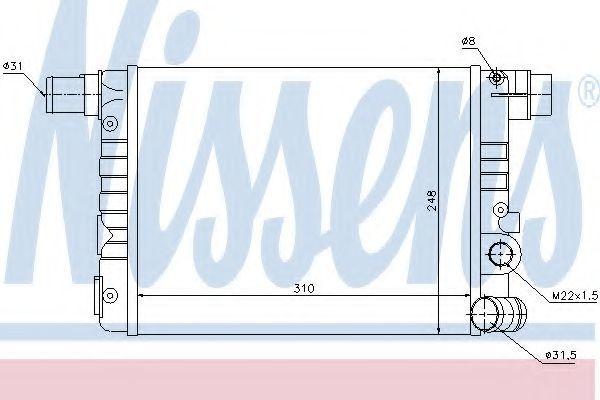 Радиатор охлаждения NISSENS 61805