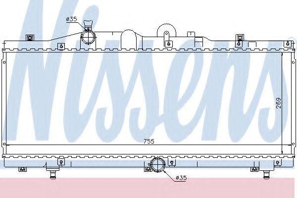 Радиатор охлаждения NISSENS 61671