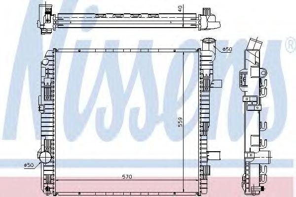 Радиатор охлаждения NISSENS 62626A