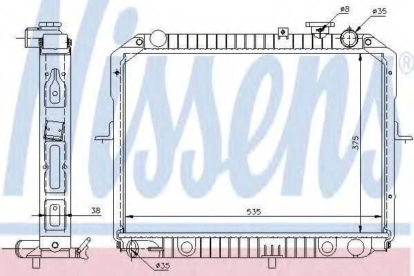 Радиатор охлаждения двигателя NISSENS 66645
