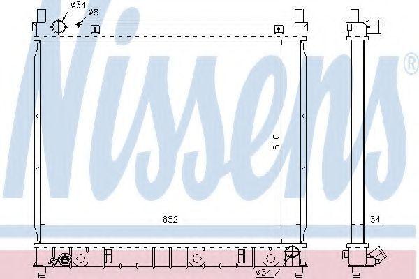 Радиатор охлаждения NISSENS 61642