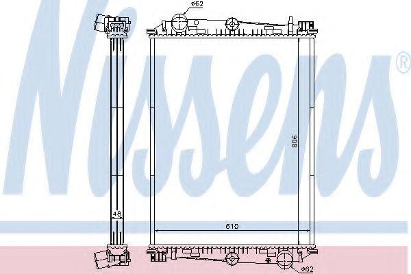 Радиатор охлаждения NISSENS 614400