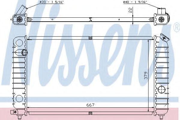 Радиатор, охлаждение двигателя NISSENS 69195A
