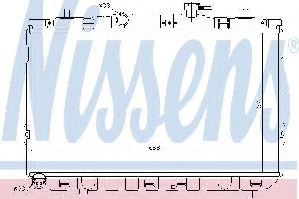 Радиатор охлаждения двигателя NISSENS 67488