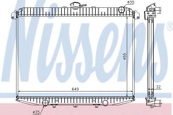 Радиатор охлаждения двигателя NISSENS 62069A