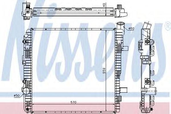 Радиатор охлаждения двигателя NISSENS 62625A