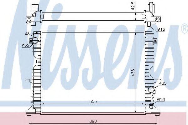 Радиатор охлаждения NISSENS 64311A