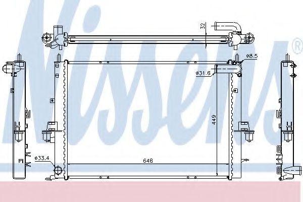 Радиатор охлаждения двигателя NISSENS 64308A