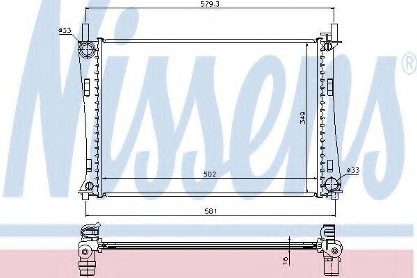 Радиатор охлаждения NISSENS 62028A