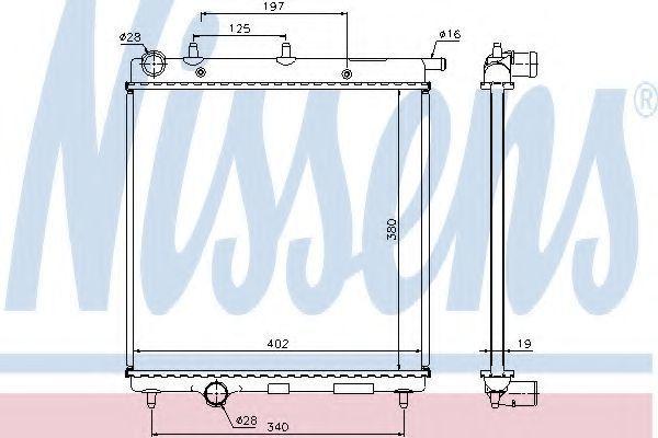 Радиатор охлаждения NISSENS 61277