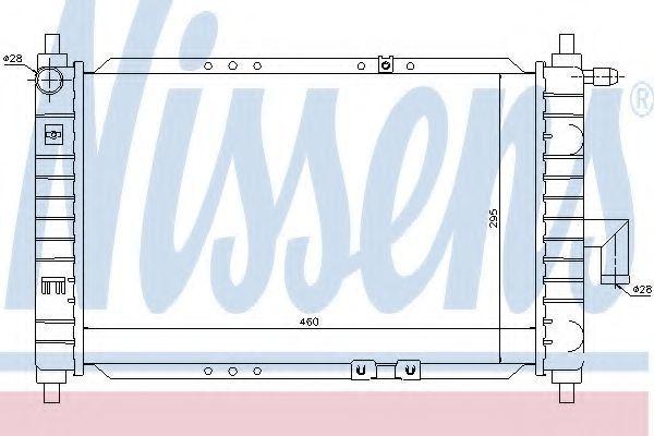 Радиатор охлаждения NISSENS 61646