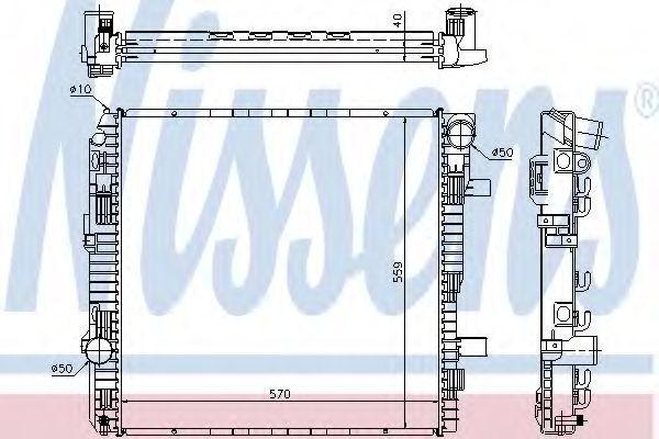 Радиатор охлаждения двигателя NISSENS 62794A