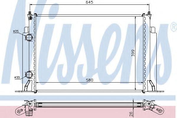 Радиатор охлаждения двигателя NISSENS 61885A