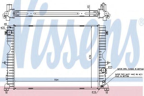 Радиатор охлаждения двигателя NISSENS 64312A