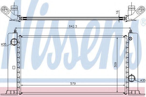 Радиатор охлаждения двигателя NISSENS 61883A