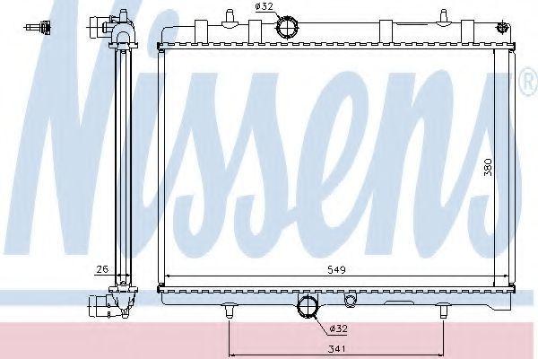 Радиатор охлаждения двигателя NISSENS 63606A