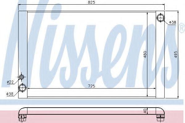 Радиатор охлаждения NISSENS 60325
