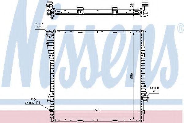 Радиатор охлаждения NISSENS 60788A