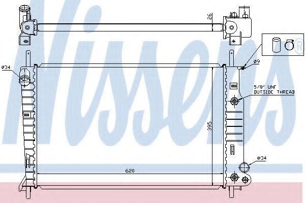 Радиатор охлаждения двигателя NISSENS 62050