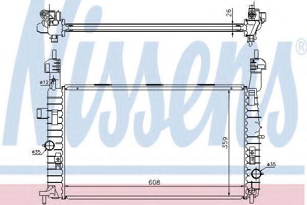 Радиатор охлаждения NISSENS 63087A