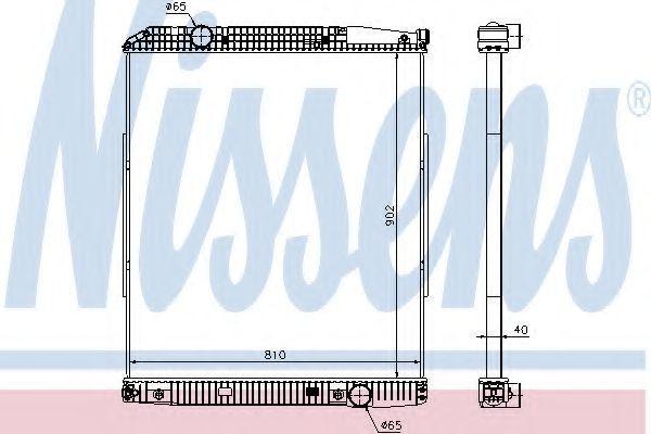 Радиатор охлаждения NISSENS 626530